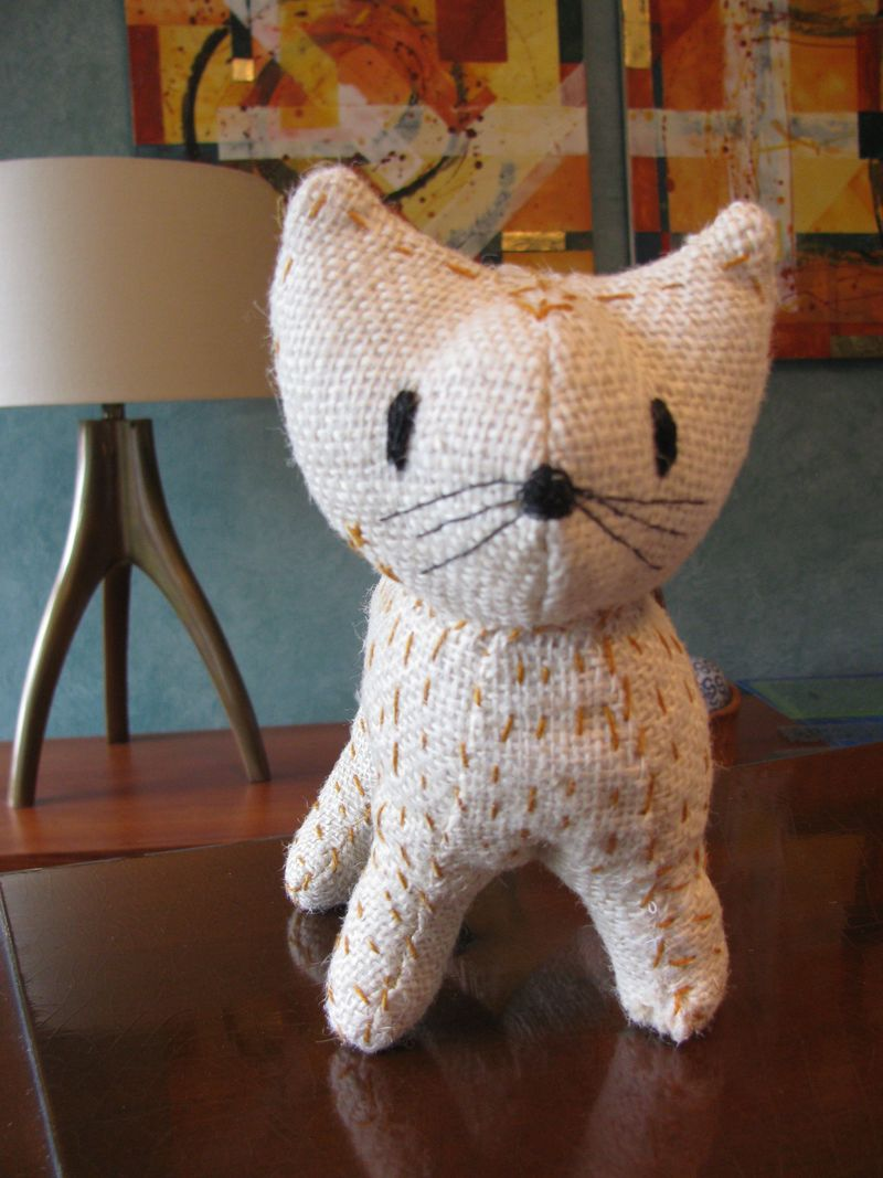 Burlap kitty one