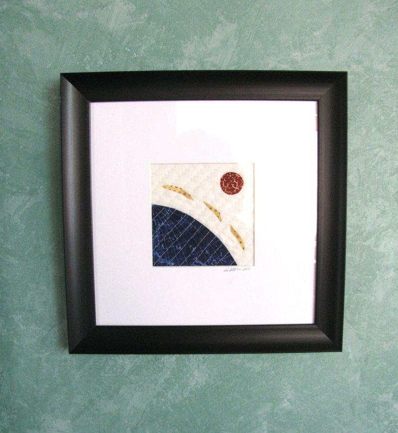 Framed art quilt