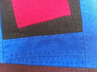 Wool quilt detail front side