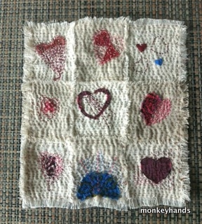 Hearts nine patch