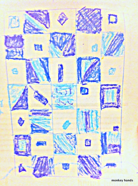Blues quilt sketch