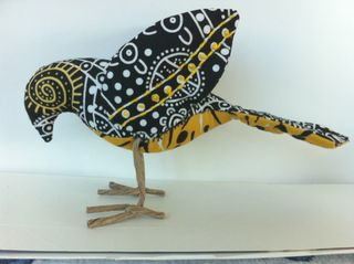 Yellow bird, black bird