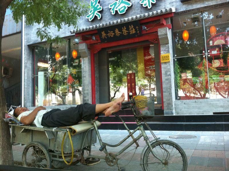 Resting on beijing street