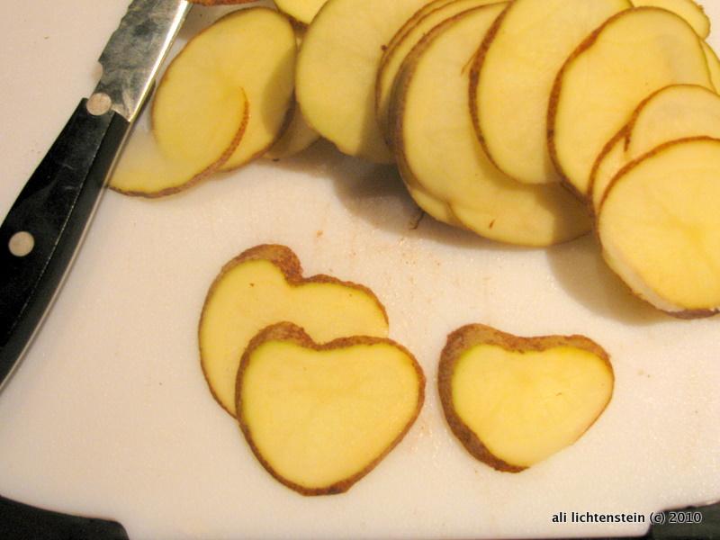 Heart potatoes