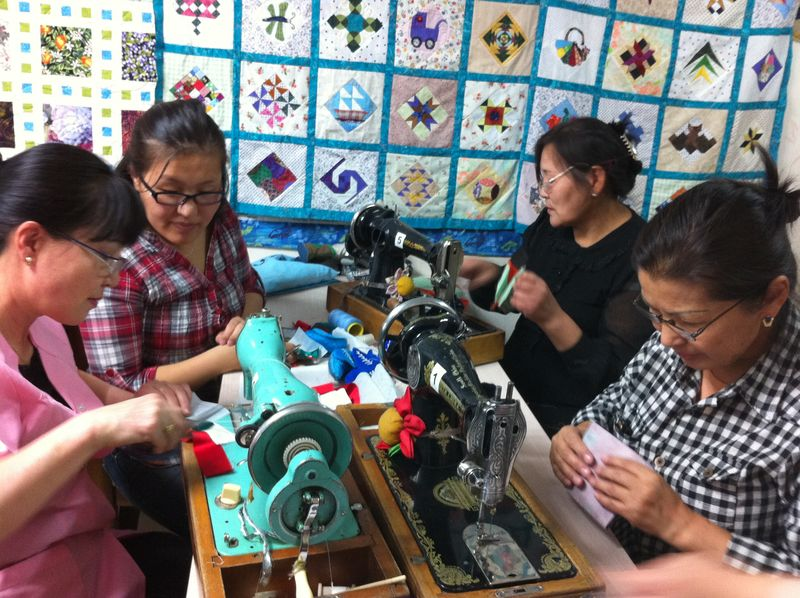 Mongolian quilters